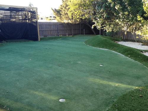 study backyard golf green installation in melbourne synthetic golf