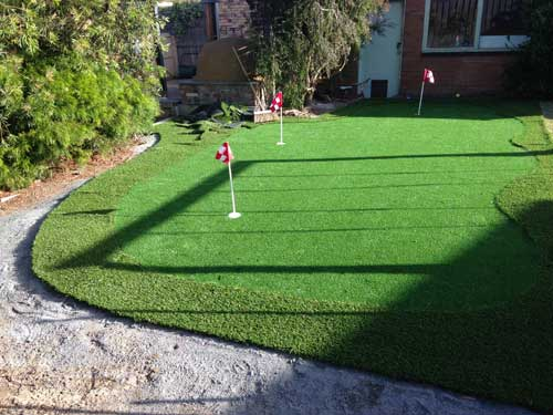Case Study A Backyard Diy Synthetic Golf Green Everything