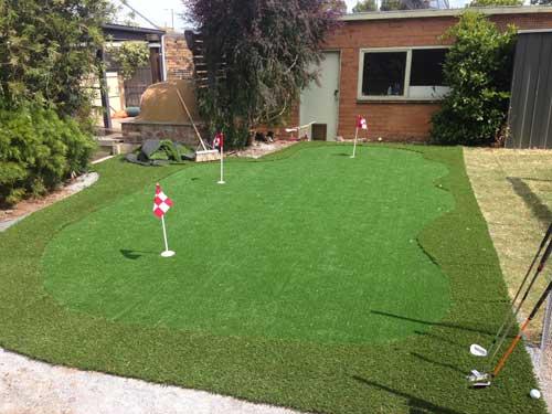 case study a backyard diy synthetic golf green