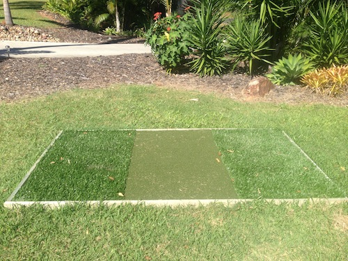 A nice golf tee for your backyard is a perfect addition to your golf green