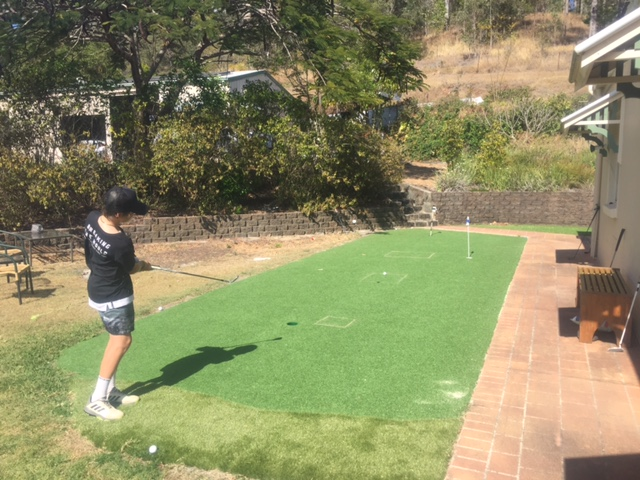 backyard chipping practice