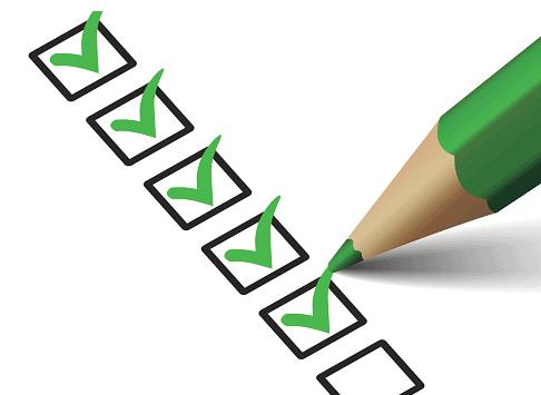 checklist golf green