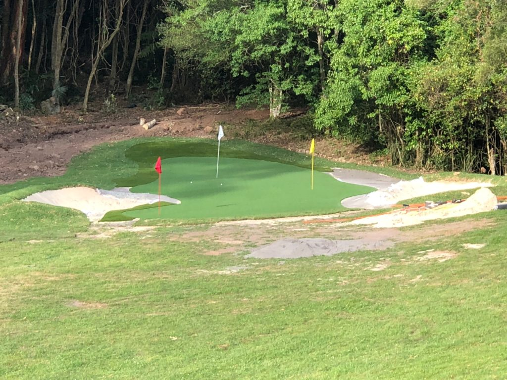 A really large backyard DIY golf green