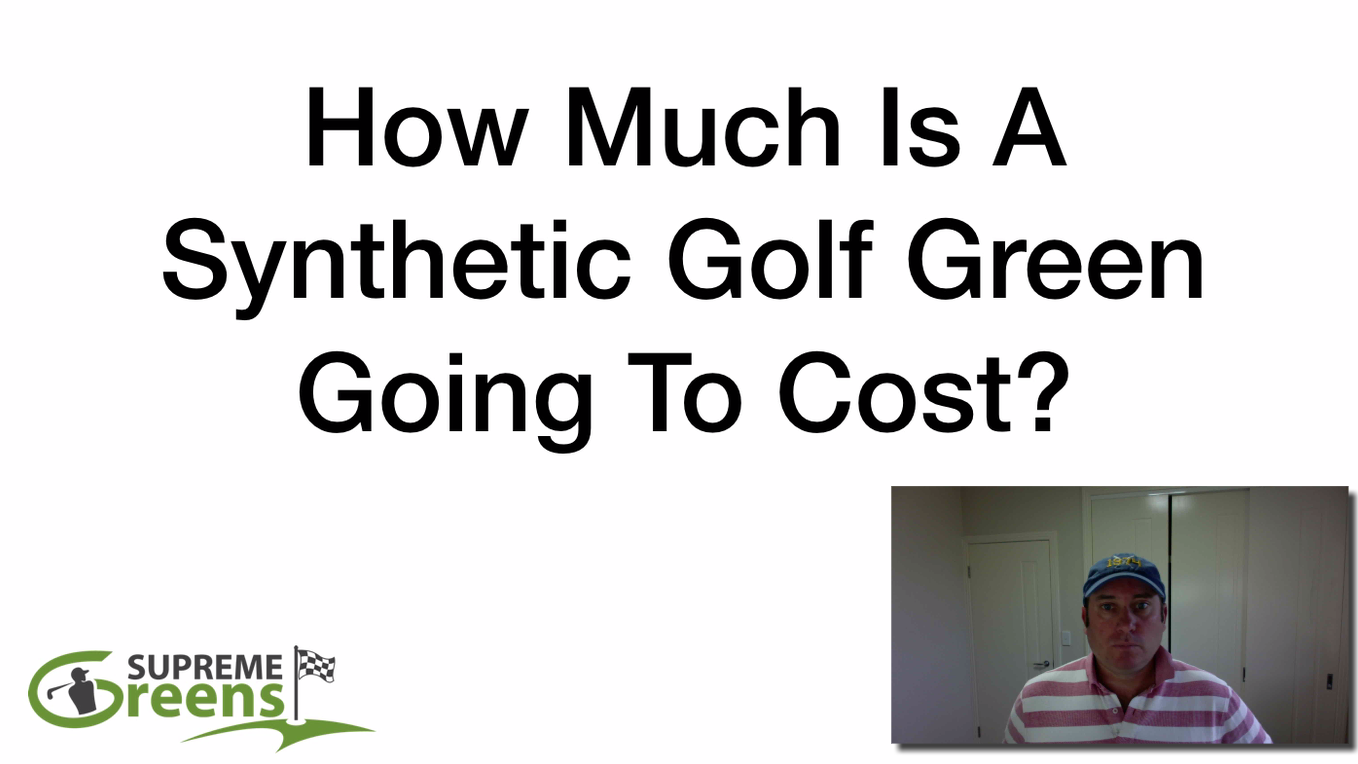 What is the cost of a synthetic golf green?